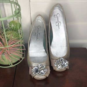 Jessica Simpson Lepolia Jewel Ballet Flats Size 8